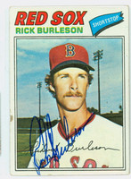 Rick Burleson AUTOGRAPH 1977 Topps #585 Red Sox 