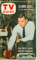 1953 TV Guide Apr 10 Jack Webb of Dragnet Cincinnati-Dayton edition Excellent - No Mailing Label  [Lt wear on cover, contents fine; address stamped on reverse]