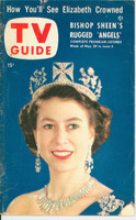 1953 TV Guide May 29 Queen Elizabeth Mid States edition Very Good to Excellent - No Mailing Label  [Wear and creasing on both covers; contents fine]