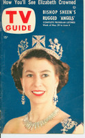 1953 TV Guide May 29 Queen Elizabeth Mid States edition Excellent - No Mailing Label  [Wear and creasing on both covers; contents fine]