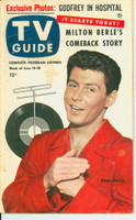 1953 TV Guide Jun 12 Eddie Fisher Midwest edition Very Good - No Mailing Label  [Heavy toning on covers; contents fine]