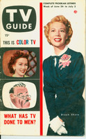 1953 TV Guide Jun 26 Dinah Shore NY Metro edition Very Good to Excellent  [Wear along binding, label on reverse cover; contents fine]