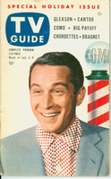 1953 TV Guide Jul 3 Perry Como NY Metro edition Very Good to Excellent  [Wear along binding, label on reverse cover; contents fine]