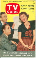 1953 TV Guide Jul 31 Sid Caesar and Imogene Coca NY Metro edition Very Good - No Mailing Label  [Lt wear on cover; contents fine]