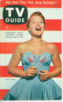 1953 TV Guide Aug 14 Patti Page Midwest edition Excellent - No Mailing Label  [Lt wear on cover, contents fine; address stamped on reverse]