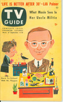 1953 TV Guide Sep 4 Wally Cox of Mr Peepers Chicago edition Excellent - No Mailing Label  [Sl bend along binding; contents fine]