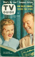 1953 TV Guide Sep 11 Joan Caulfield and Ralph Edwards on This Is Your Life Midwest edition Near-Mint - No Mailing Label  [Very clean example]