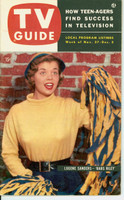 1953 TV Guide Nov 27 Lugene Sanders of Life of Riley Midwest edition Near-Mint - No Mailing Label  [Lt wear on cover, ow very clean; address stamped on reverse]