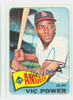 Vic Power AUTOGRAPH d.05 1965 Topps #442 Angels CARD IS CLEAN EX/MT