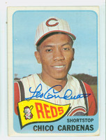 Chico Cardenas AUTOGRAPH 1965 Topps #437 Reds CARD IS CLEAN VG; 1 FUZZY CRN