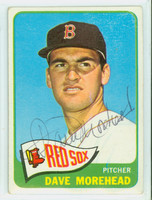 Dave Morehead AUTOGRAPH 1965 Topps #434 Red Sox CARD IS CLEAN VG/EX