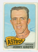Jerry Grote AUTOGRAPH 1965 Topps #504 Astros SEMI HIGH NUMBER CARD IS CLEAN VG; CRN WEAR
