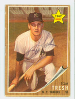 Tom Tresh AUTOGRAPH d.08 1962 Topps #31 Yankees ROOKIE CARD IS CLEAN EX