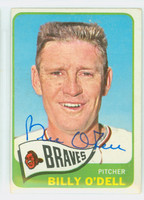 Billy O' Dell AUTOGRAPH 1965 Topps #476 Braves SEMI HIGH NUMBER CARD IS CLEAN VG/EX