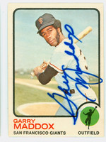 Garry Maddox AUTOGRAPH 1973 Topps #322 Giants CARD IS SHARP NMT+