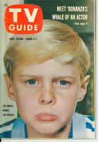 1960 TV Guide Mar 5 Jay North as Dennis the Menace Illinois edition Excellent - No Mailing Label  [Lt wear on cover; ow very clean]