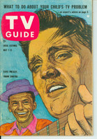 1960 TV Guide May 7 Elvis Presley and Frank Sinatra Pittsburgh edition Excellent - No Mailing Label  [Lt wear on cover; ow very clean]