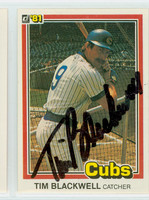 Tim Blackwell AUTOGRAPH 1981 Donruss Cubs 