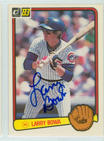 Larry Bowa AUTOGRAPH 1983 Donruss Cubs 
