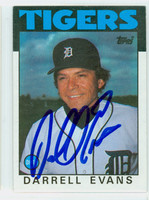 Darrell Evans AUTOGRAPH 1986 Topps #515 Tigers 