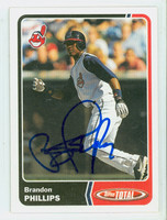Brandon Phillips AUTOGRAPH 2003 Topps Total Indians 