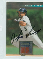 Quilvio Veras AUTOGRAPH 1996 Donruss Marlins 