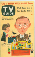1953 TV Guide Sep 4 Wally Cox Mid States edition Excellent - No Mailing Label  [Lt wear and scuffing on cover; ow clean]