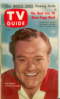 1953 TV Guide Oct 2 Red Skelton Chicago edition Very Good - No Mailing Label  [Soiling and spotting along binding; staple rust, contents fine]