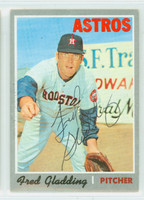 Fred Gladding AUTOGRAPH d.15 1970 Topps #208 Astros 