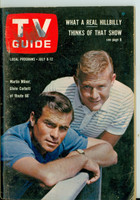1963 TV Guide Jul 6 Cast of Route 66 Pittsburgh edition Very Good to Excellent - No Mailing Label  [Wear and creasing on cover; contents fine]