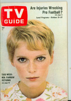 1967 TV Guide Oct 21 Mia Farrow Missouri edition Excellent to Mint - No Mailing Label  [Very light wear on the cover, ow very clean]