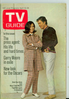 1969 TV Guide Apr 12 Mary Tyler Moore and Dick Van Dyke Oregon State edition Very Good to Excellent - No Mailing Label  [Sl moisture stain on cover, # WRT in logo in pencil; contents fine]