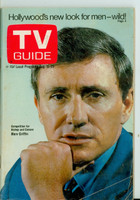 1969 TV Guide Aug 16 Merv Griffin Oregon State edition Very Good - No Mailing Label  [Sl moisture stain on cover, # WRT in logo in pencil; contents fine]