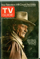 1972 TV Guide Nov 4 John Wayne Southern Ohio edition Very Good to Excellent - No Mailing Label  [Wear and creasing on cover, contents fine]