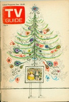 1972 TV Guide Dec 23 Christmas Central Indiana edition Fair to Good - No Mailing Label  [Binding nearly completely detached and seperated; contents fine]