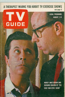 1963 TV Guide Aug 3 Morey Amsterdam of the Dick Van Dyke Show Utah-Idaho edition Good to Very Good - No Mailing Label  [Wear and toning on cover, one moisture stain, contents fine]