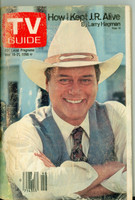 1980 TV Guide Nov 15 Larry Hagman of Dallas Philadelphia edition Very Good  [Loose at staples, heavy scuffing and wear on cover; label removed]