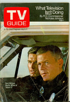 1969 TV Guide Jul 5 Adam 12 Oregon State edition Very Good - No Mailing Label  [Heavy creasing on cover, # WRT in logo, contents fine]