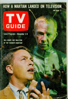 1963 TV Guide Nov 2 My Favorite Martian (First Cover) Oregon State edition Very Good - No Mailing Label  [Wear and scuffing on cover, # WRT in logo with pencil; contents fine]