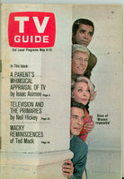 1968 TV Guide May 4 Cast of Mission Impossible Western Illinois edition Very Good to Excellent - No Mailing Label  [Sl loose at staples, lt wear on cover; contents fine]