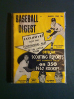 1962 Baseball Digest March Scouting Reports Excellent
