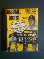 1964 Baseball Digest March Scouting Reports Excellent to Mint