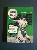 1953 Baseball Digest March Billy Martin Excellent to Mint