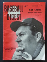 1956 Baseball Digest May Mike Higgins Good to Very Good