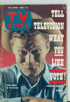 1960 TV Guide Mar 12 Chuck Connors of The Rifleman Chicago edition Very Good to Excellent - No Mailing Label  [Lt creasing on cover, ow clean; contents fine]