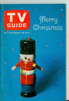 1965 TV Guide Dec 25 Christmas Iowa edition Very Good to Excellent - No Mailing Label  [Lt wear and scuffing on cover; ow clean]