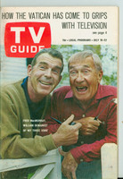 1966 TV Guide Jul 16 My Three Sons Northen Indiana edition Excellent - No Mailing Label  [Scuffing on cover, sl wear at staples; ow contents fine]
