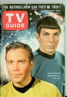 1967 TV Guide Mar 4 William Shatner and Leonard Nimoy of Star Trek (First Cover) Wisconson edition Excellent - No Mailing Label  [Lt creasing on cover, ow clean; contents fine]
