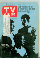 1968 TV Guide Aug 24 Cast of Star Trek Northern Illinois edition Very Good  [Sl loose at staples, wear on cover, Pencil WRT on cover; contents fine]