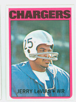 1972 Topps Football 317 Jerry Levias HIGH NUMBER San Diego Chargers Near-Mint to Mint